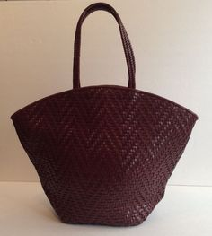 a70cbd1bff79 Paolo Masi Italy Red Woven Leather Tote Shopper Purse Bag  PAOLOMASI   TotesShoppers