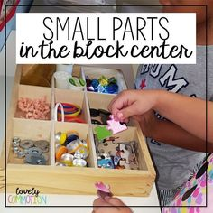 How can bringing small parts into the block center encourage creativity in preschoolers play? Read to find out!