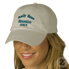 Family Reunion Baseball Cap.  From Smilin' Eyes Treasures at Zazzle.