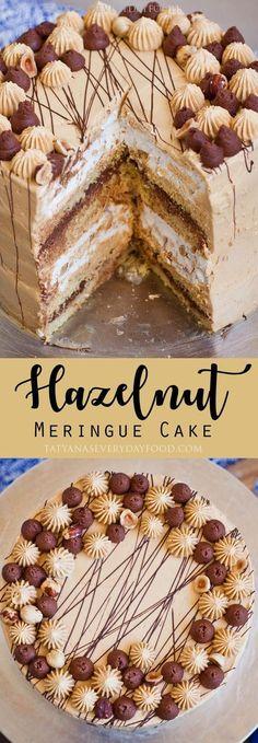 Hazelnut Meringue Cake - Tatyanas Everyday Food