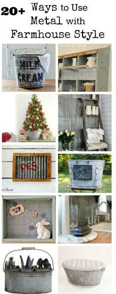 Farmhouse Friday #18 - Galvanized and Metal Decor via Knick of Time at KnickofTime.net