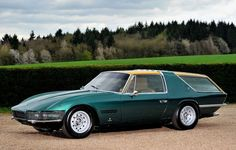 Ferrari chassis # 7963 began as a regular 1965 330GT delivered to a Belgian dealer. The car was sold to Luigi Chinetti Jr., the American Ferrari importer and driver. He sent the Ferrari to Italy, where the specialist bodybuilder Vignale converted the 330GT into a shooting-brake in 1967.