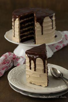 Tarta de chocolate, café y Baileys