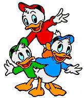 Huey, Dewey and Louie Duck - Donald Duck's nephews