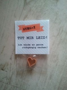 """""""Tut mir leid"""" - Message mit Herz"""