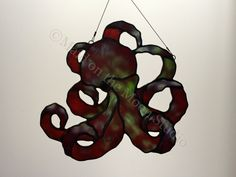 Stained Glass Octopus by MaidontheMoonGlass on Etsy
