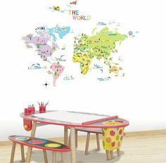 Samolepka Ambiance World map for children