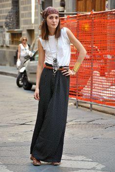 Diletta Bonaiuti - Italian Street Fashion - Summer 2011 Milan Italy Street Fashion