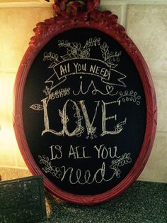 Made this chalkboard out of an old gold vintage mirror.  Used Paint Coutures Russian Red with clear and dark wax.