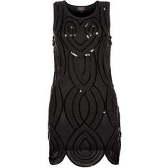 Tokyo Doll Black Sequin Scallop Hem Dress by None, via Polyvore