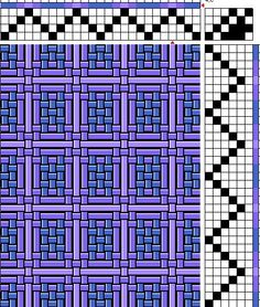 Joy Of Weaving: Photo Gallery. Color & weave! (Note there are TWO shades of purple in this draft.)