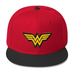 b88309997c2f DC Comics Wonder Woman Wool Blend Snapback Ball Cap!