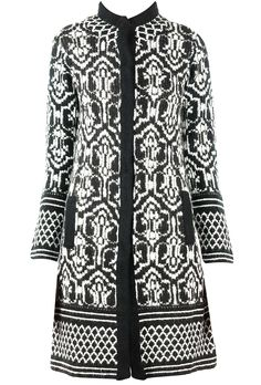 Black and white jacquard knitted sweater jacket available only at Pernia's Pop-Up Shop.
