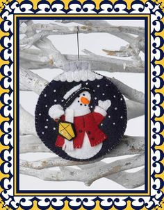 Weihnachtskugel Schneemann