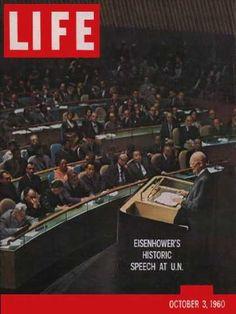 Life 1960 - Eisenhower at United Nations