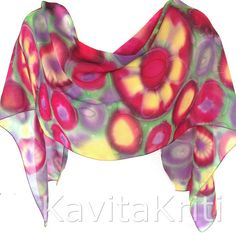 Silk scarves canada Floral scarf Lightweight scarf by KavitaKriti - tempted, so very very tempted.