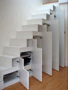Staircase storage cabinets - drawers and doors