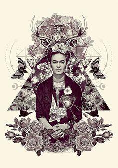 Frida Kahlo, impossível não se apaixonar por ela. Falar da Frida é ultrapassar sua pintura, é falar de intensidade, é ver as belezas na tragédia, é transformar deficiência em talento, reverberar com contrastes de cores em meio a um amor cheio de defeitos.