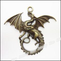 24pcs Vintage Charms Dragon Pendant Antique bronze Zinc Alloy Fit Bracelet Necklace DIY Metal Jewelry Findings #Affiliate