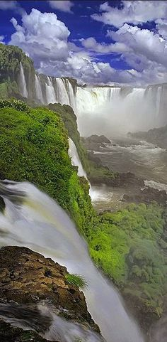 Iguazu Falls, Cataratas de Iguazú, en Brasil...espectaculares.
