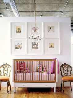 modern with traditional.  high design eclectic nursery!