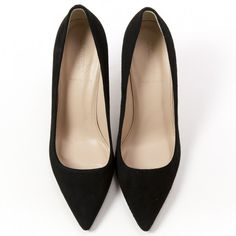 Black Suede Heels J.CREW (635 PLN) ❤ liked on Polyvore featuring shoes, pumps, heels, j crew shoes, kohl shoes, black suede pumps, suede shoes and black suede shoes