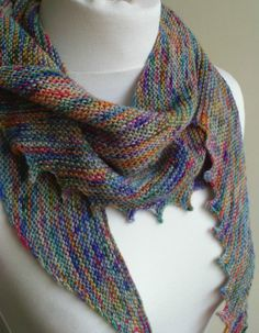 Knit Scarf - Unique Scarf - Bohemian Scarf - Statement Scarf - Hand Dyed Yarn Scarf - One of a Kind - Ready to Ship - UK Seller on Etsy, $57.79
