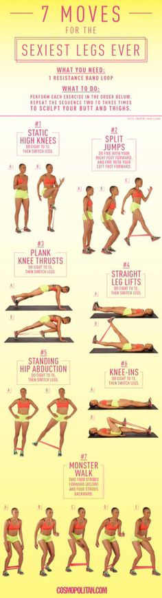 Lower body workout using loop bands.