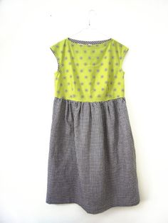 boat neck cotton dress with gathered skirt side by lorettascarves, €80.00
