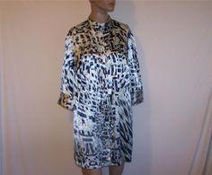 LANE BRYANT Tunic Top Shirt 14/16 Button Front 3/4 Sleeve Mandarin Collar NEW #LaneBryant #Tunic #Career