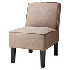 Burke Armless Slipper Chair - Brown Herringbone