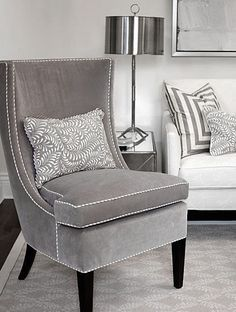 Velvet Chair Design Accent Under 100 Dollars 218 Best Armchair Images Sofa Chairs Dove Gray Home Decor Cloverdale Paint Nail Head Grey