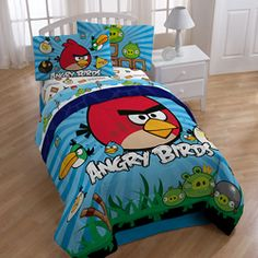 @Overstock - Everyones favorite game now comes to you in a twin-sized Angry Birds bed-in-a-bag. This 132 thread count set is the perfect addition to a video game buffs room. The colorful design brightens up a space, and it is machine-washable for easy care.http://www.overstock.com/Bedding-Bath/Angry-Birds-Burst-Twin-size-4-piece-Bed-in-a-Bag-with-Sheet-Set/6584773/product.html?CID=214117 $58.98