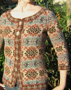 Lori's Fair Isle Cardigan is beyond beautiful! She based her color choices on a painting by Paul Klee. Fair Isle Cardigan by lorijo on Ravelry (rav link)