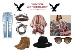 """""""Winter Wanderlust with American Eagle: Contest Entry"""" by veronicasavage42 ❤ liked on Polyvore featuring American Eagle Outfitters, Genetic Denim, Dolce&Gabbana, Christian Koban and aeostyle"""
