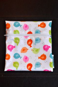 Babyville Spring Birds Reusable Waterproof by SpoonerSistersDesign, $8.00 Spring Birds, Wet Bag, Plastic Cutting Board, Gift Ideas, Sewing, Unique Jewelry, Handmade Gifts, Bags, Etsy