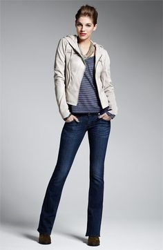 Trouvé Hoodie, Splendid Top, Hudson Jeans | Nordstrom-- classy AND cozy, yes please!