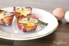 baked ham and egg cups and 2 more tasty ham leftover recipes on http://www.cherylstyle.com