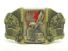 Eagle Over Truck Lighter Trucker Belt Buckle