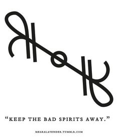 "mearalavender: "" ""Keep the bad spirits away"" Sigil Sunday! May this sigil be in your favour. Viking Symbols And Meanings, Magic Symbols, Norse Symbols, Ancient Symbols, Egyptian Symbols, Hawaiianisches Tattoo, Symbol Tattoos, Wiccan Tattoos, Angelic Symbols"