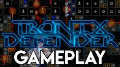 Tronix Defender Gameplay   Retro Tower Defense Synthwave Casual Game