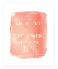 'What If You Fly' Print