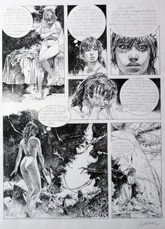 Comic Book Pages, Comic Page, Comic Books, Serpieri, Balloon Words, Bd Comics, Expositions, Comic Styles, Comic Covers