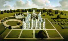 Burghley House - west facade. 1994
