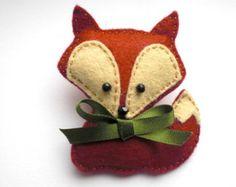 Broche Fox, Fox broche, broche, Fox a estimé, feutre Pin Fox