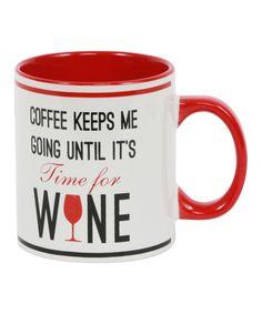 Look at this #zulilyfind! 'Time for Wine' Mug by DEI #zulilyfinds