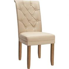 Caprice Dining Chair in Antique Ivory & Oak (Set of 2)