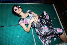 Koson Flowers Cap Sleeve Pocket Midi Dress ($120AUD) by BlackMilk Clothing Black Milk Clothing, My Black, Cap Sleeves, June, Pocket, Classic, Flowers, How To Wear, Clothes