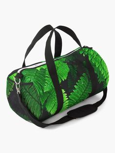 """""""Tropical Leaves Fern Plants"""" Duffle Bag by ind3finite   Redbubble"""