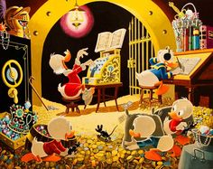Spoiling the Concert - Reproduced after Carl Barks original by the Italian artist Gil
